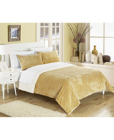 Chic Home Evie 3-Pc King Sherpa Blanket