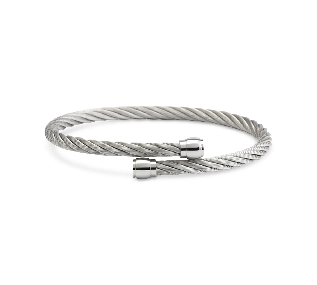 Charriol Cable Bypass Bangle Bracelet in Stainless Steel