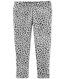 Carter's Toddler Girls Animal-Print Faux-Pocket Leggings