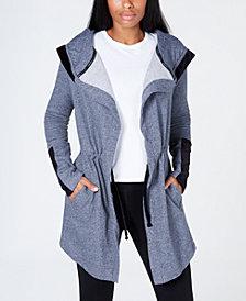 Calvin Klein Performance Velour-Trimmed Long Hoodie