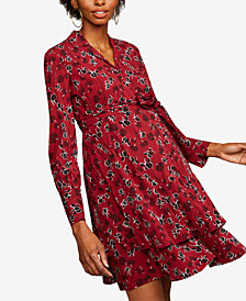 A Pea In The Pod Maternity Printed Shirtdress