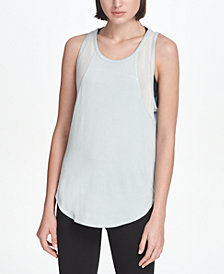 DKNY Sport Mesh-Trimmed Tank Top, Created for Macy's