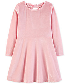 Carter's Toddler Girls Stretch Velour Bow Dress