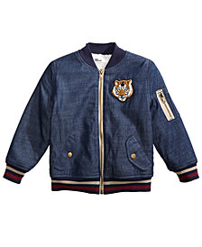 Epic Threads Little Boys Denim Bomber Jacket, Created for Macy's