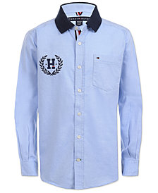 Tommy Hilfiger Little Boys Lorenzo Button-Front Cotton Shirt