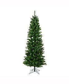 Vickerman 7.5 ft Salem Pencil Pine Artificial Christmas Tree Unlit