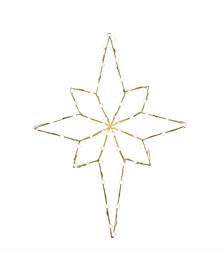"48"" C7 Led Bethlehem Star Wire Silhouette"