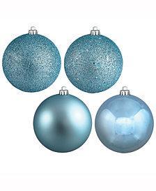 "Vickerman 1.6"" Baby Blue 4-Finish Christmas Ball Ornament, 96 Per Box"