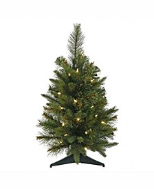 24 inch Cashmere Pine Artificial Christmas Tree With 30 Warm White Led Lights