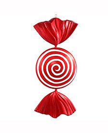 "Vickerman 37"" Red-White Flat Peppermint Candy Christmas Ornament"