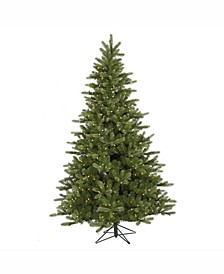 7.5 ft King Spruce Artificial Christmas Tree With 700 Warm White Led Lights