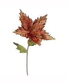 "Vickerman 26"" Copper Velvet Poinsettia Artificial Christmas Pick, 3 Per Bag"