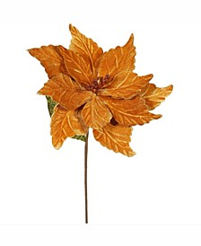 "22"" Copper Poinsettia Artificial Christmas Flower"