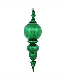 "28"" Green Shiny Finial Christmas Ornament"