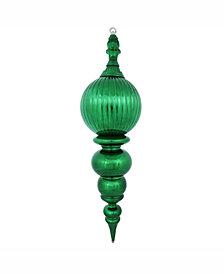 "Vickerman 28"" Green Shiny Finial Christmas Ornament"