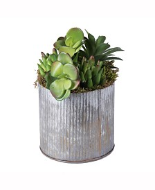 Vickerman 9 inch Rustic Tin Container