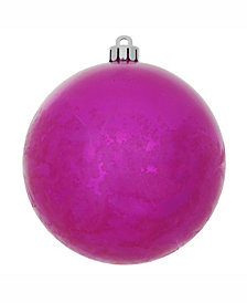 "Vickerman 4"" Magenta Crackle Ball Christmas Ornament"