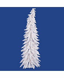 5 ft White Whimsical Artificial Christmas Tree With 100 Warm White Led Lights