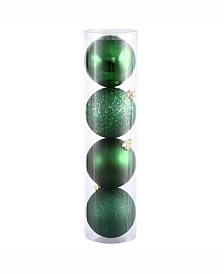 """Vickerman 12"""" Emerald 4-Finish Ball Ornament Comes In Shiny"""