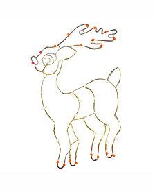 """Vickerman 48"""" C7 Led Reindeer Wire Silhouette"""