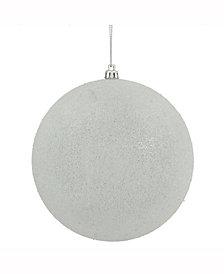 "Vickerman 8"" White Iced Ball Ornament"