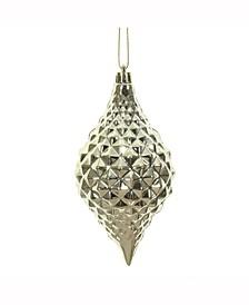 "6 X 3"" "" Champagne Shiny Diamond Drop Ornament"