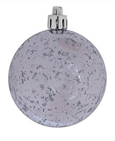 "4"" Silver Shiny Mercury Ball Christmas Ornament"