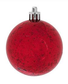 """Vickerman 6"""" Red Shiny Mercury Ball Christmas Ornament, 4 Per Bag"""