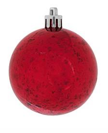 "10"" Red Shiny Mercury Ball Christmas Ornament"