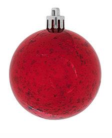 "Vickerman 10"" Red Shiny Mercury Ball Christmas Ornament"