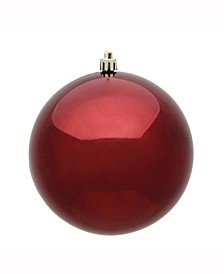 "8"" Burgundy Shiny Uv Treated Ball Christmas Ornament"