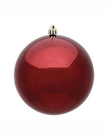 "Vickerman 8"" Burgundy Shiny Uv Treated Ball Christmas Ornament"