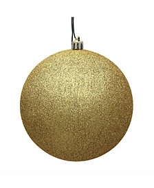 "Vickerman 4.75"" Gold Glitter Ball Christmas Ornament"