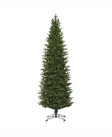 """7.5' X 38"""" Eagle Frasier Slim Artificial Christmas Tree Features 2222 Pe/Pvc Tips"""