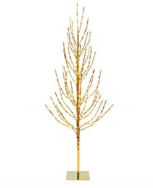 Vickerman 5' Gold Artificial Christmas Tree With 336 Warm White Led Lights