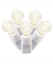 Vickerman 50 Warm White G12 Led Light On White Wire, 25' Christmas Light Strand