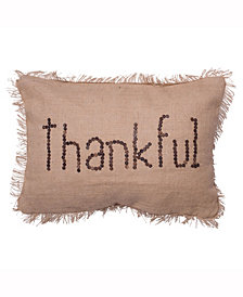 Vickerman Decorative Pillow Featuring Rustic Harvest Burlap Pillow