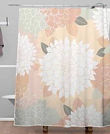 Iveta Abolina Ivory Rose Shower Curtain