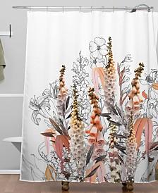 Deny Designs Iveta Abolina Lupines Cream Shower Curtain