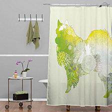 Deny Designs Iveta Abolina Puppy Frenchie Shower Curtain