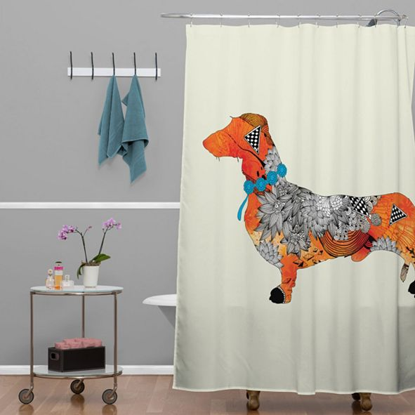 Deny Designs Iveta Abolina Brown Lab Shower Curtain