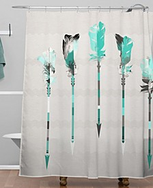 Iveta Abolina Feather Roll Shower Curtain