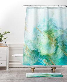 Deny Designs Iveta Abolina Crystalline Water Navy Bath Mat