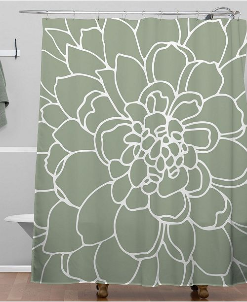Deny Designs Iveta Abolina Iceland Frost Green Shower Curtain