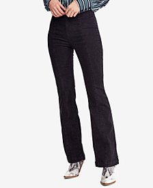Free People Flared Pull-On Jeans