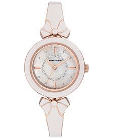 Anne Klein Women's Rose Gold-Tone & Gray Bangle Bracelet Watch 31mm