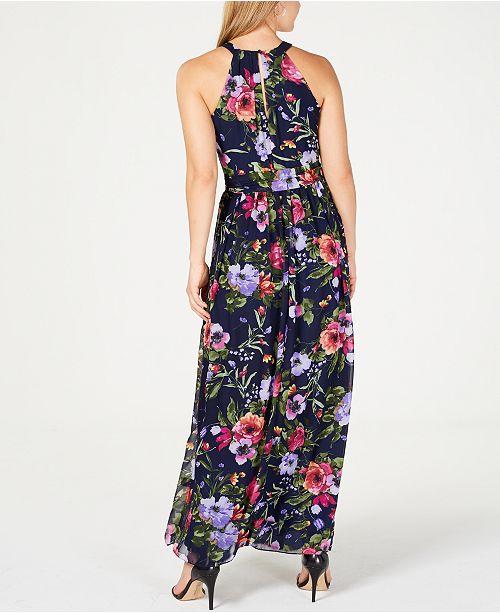 a82defb6c305a Jessica Howard Belted Floral-Print Maxi Dress   Reviews - Dresses ...