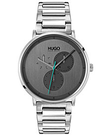 HUGO Men's #Guide Ultra Slim Stainless Steel Bracelet Watch 40mm