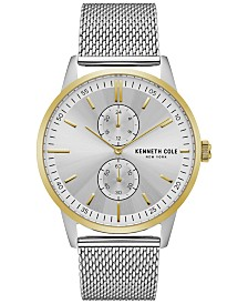 Kenneth Cole New York Men's Stainless Steel Mesh Bracelet Watch 44mm