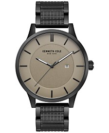Kenneth Cole New York Men's Black Ion-Plated Stainless Steel Bracelet Watch 44mm